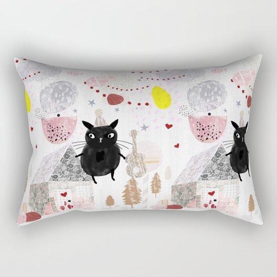 Birthday Cat Rectangular Pillow