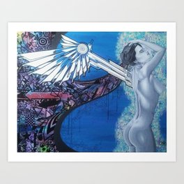 Angel of Art Art Print