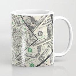 Dollar Bills Design Coffee Mug