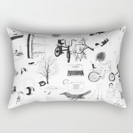 Dreams and bits and bobs Rectangular Pillow