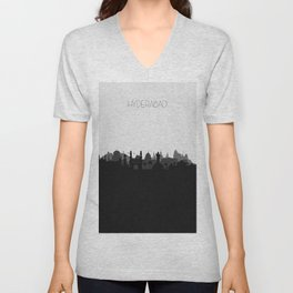 City Skylines: Hyderabad Unisex V-Neck