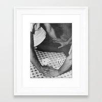 poker Framed Art Prints featuring Poker by vooduude