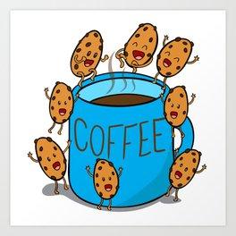 blue COFFEE mug Art Print