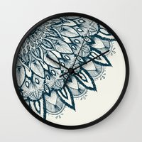 mandala Wall Clocks featuring Mandala by rskinner1122