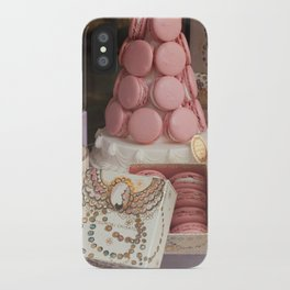 Pink macarons at Laduree Paris iPhone Case