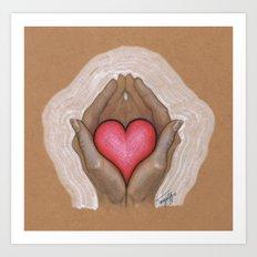 My Heart in Your Hands Art Print