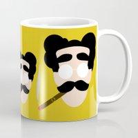 marx Mugs featuring 4menSmoking- Groucho by blaf