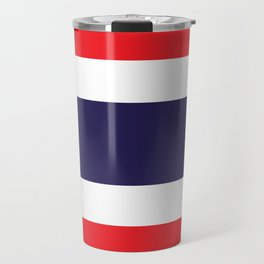 The National flag of Thailand, (formerly known as Siam) Authentic scale and color version  Travel Mug
