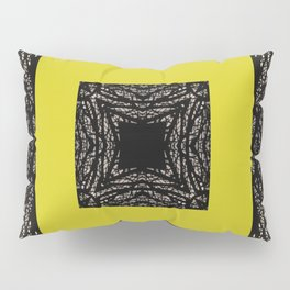 Gothic tree box pattern mustard yellow Pillow Sham