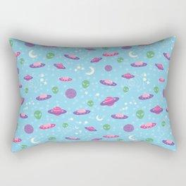 Pastel Goth Alien UFO Rectangular Pillow