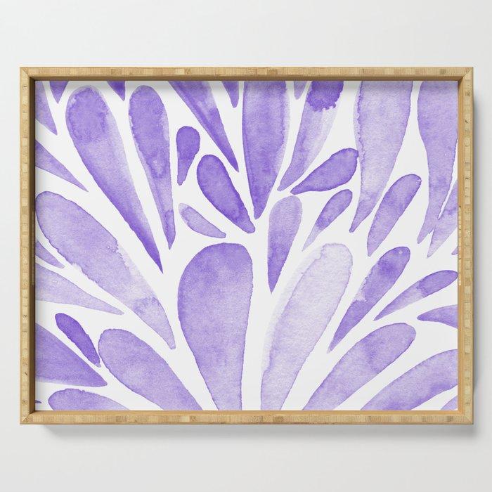 Watercolor artistic drops - lilac Serving Tray