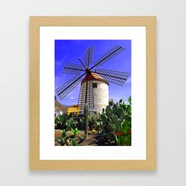 Tropical Windmill  Framed Art Print