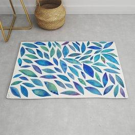 Diamond Leaves – Blue Palette Rug