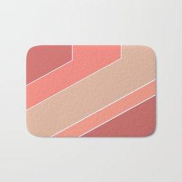 Terracotta , beige , abstract Bath Mat