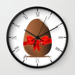 Chocolate Easter Egg Wall Clock
