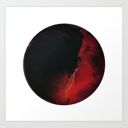 Black Lava on White Art Print