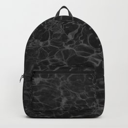 Black and White Fire Water Backpack
