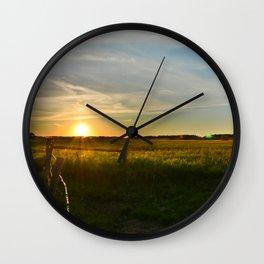 Prairie Sunset Wall Clock