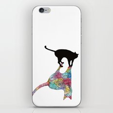 The Cat and Its Shadow iPhone & iPod Skin