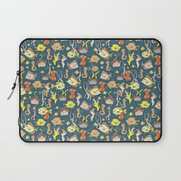 Fish and Coral Ocean Floor Pattern Laptop Sleeve