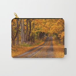 Fall Rural Country Road Carry-All Pouch