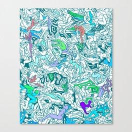 Kamasutra LOVE - Sea Blue Green Turquoise Min Canvas Print