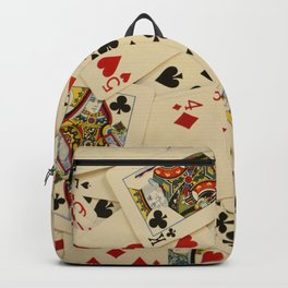 Scattered Playing Cards Texture Photograph Backpack