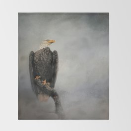 High Perch - Bald Eagle - Wildlife Throw Blanket