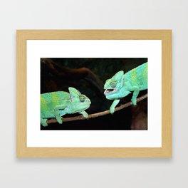 Chameleons Framed Art Print