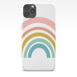 Simple Happy Rainbow Art iPhone Case