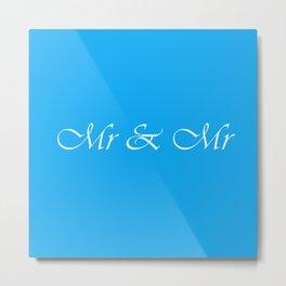 Mr & Mr Monogram Metal Print