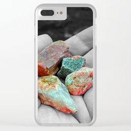 Loch Ness rocks Clear iPhone Case