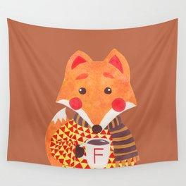 Winter Season is Coming (Fox Version) Wall Tapestry