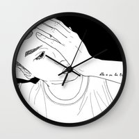tatoo Wall Clocks featuring Line Illustration #Tatoo by ODDbyhUGEcOncept