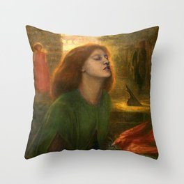 Beata Beatrix by Dante Gabriel Rossetti, 1864 Throw Pillow