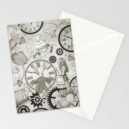 Wonderland Time - Vintage Black & White Stationery Cards
