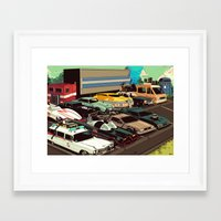 cars Framed Art Prints featuring Cars by Dave Collinson