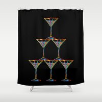 champagne Shower Curtains featuring Champagne by Rceeh