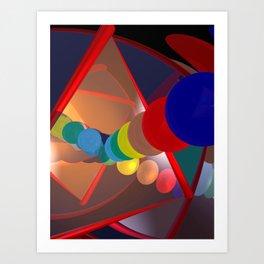 in a mirror -1- Art Print