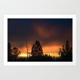 Central Oregon Sunset 2 Art Print