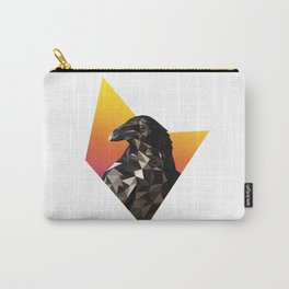 Low Poly Raven Carry-All Pouch