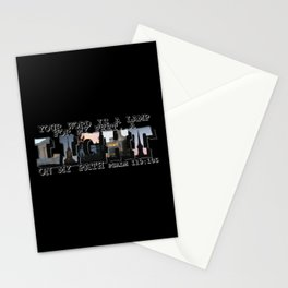 A Light on My Path Psalm 119:105 Big Letter Stationery Cards