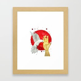 Pigeon of the peace Framed Art Print
