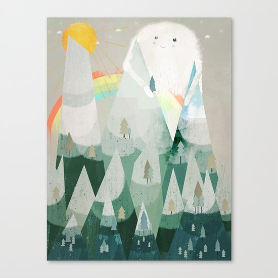 the rainbow critter Canvas Print