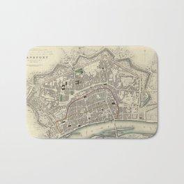 Vintage Map of Frankfurt Germany (1837) Bath Mat