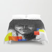 hair Duvet Covers featuring Hair by Nato Gomes