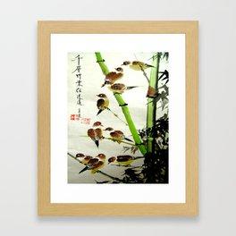 nine sparrows Framed Art Print