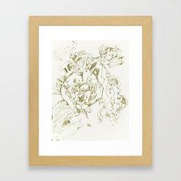 Lies Framed Art Print