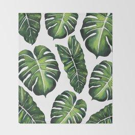 Tropical Leaves vol.4 Throw Blanket