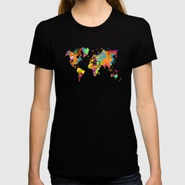world map color art 2 T-shirt